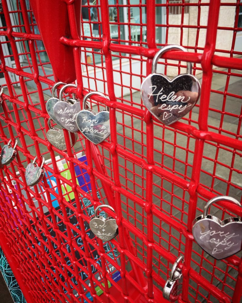Heart-shaped love-locks