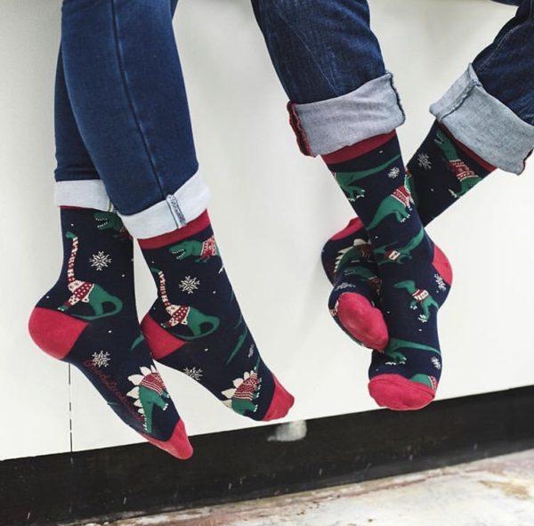 Good Luck Dinosaur Socks
