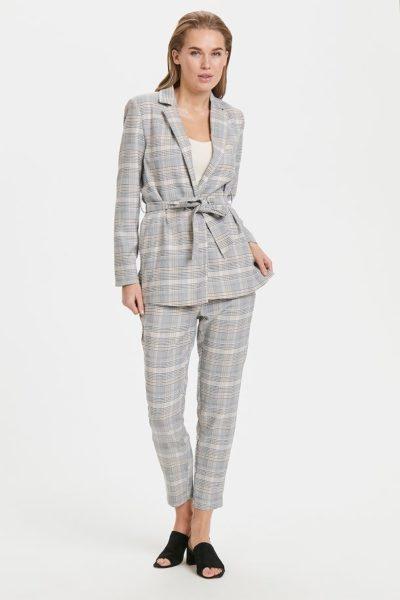 Cinched Belt Suit Trend