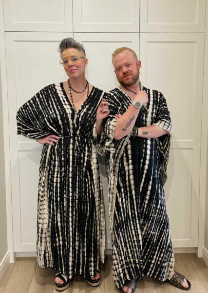 Kim & Jimmi in espy The Label matching kaftans